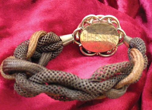 1855 hairwork bracelet