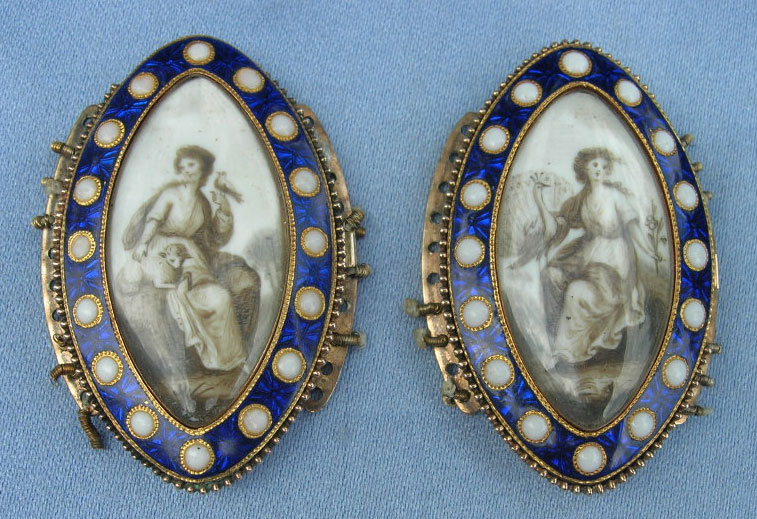 Peacock, Lamb, Dove, Neoclassical Sepia Bracelet