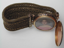 Hairwork Miniature Portrait Bracelet