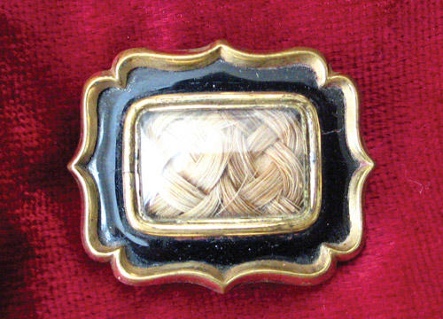 1846 Black Enamel Mourning Brooch
