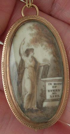 Neoclassical Sepia Brooch
