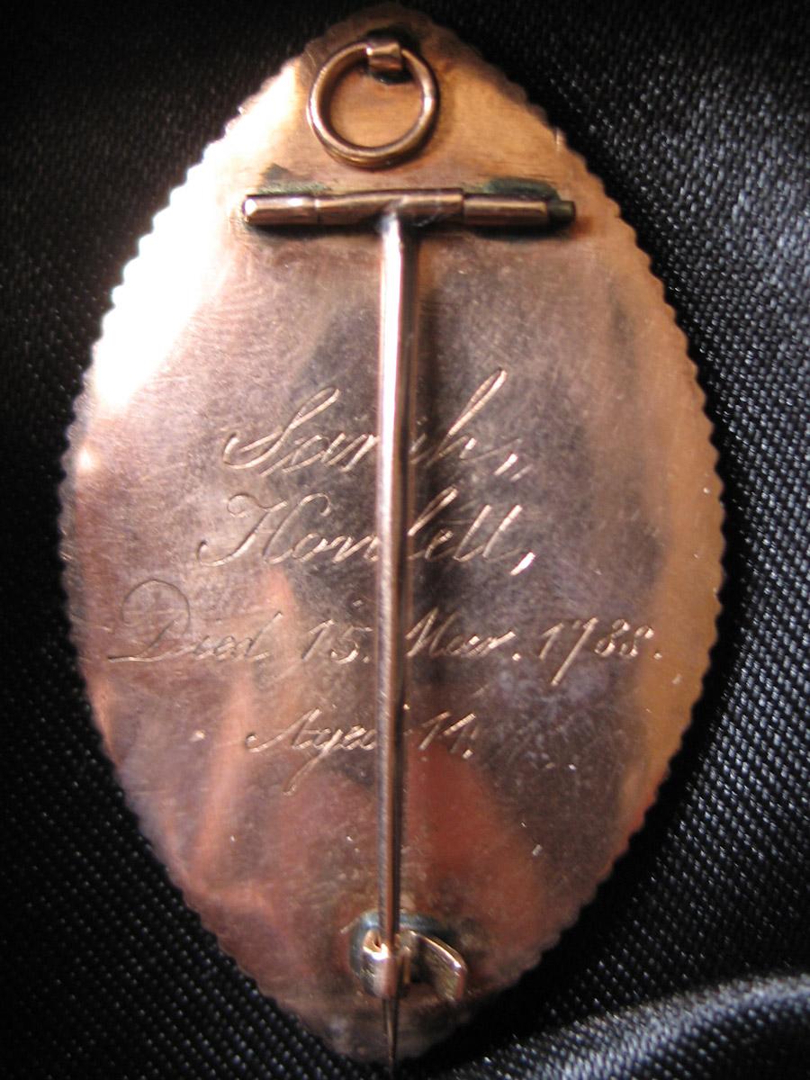 Neoclassical Sepia Brooch Faith Hope Charity