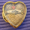 Stuart Crystal, Ribbon Slide, 17th Century, Hairwork, Gold Wire Cypher, Cipher, Heart, Hands