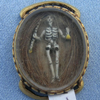 Stuart Crystal, Ribbon Slide, 17th Century, Hairwork, Gold Wire Cypher, Cipher, Memento Mori, Skeleton, Hourglass