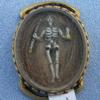 Stuart Crystal, Ribbon Slide, 17th Century, Hairwork, Gold Wire Cypher, Cipher, Memento Mori, Skeleton, Hourglass
