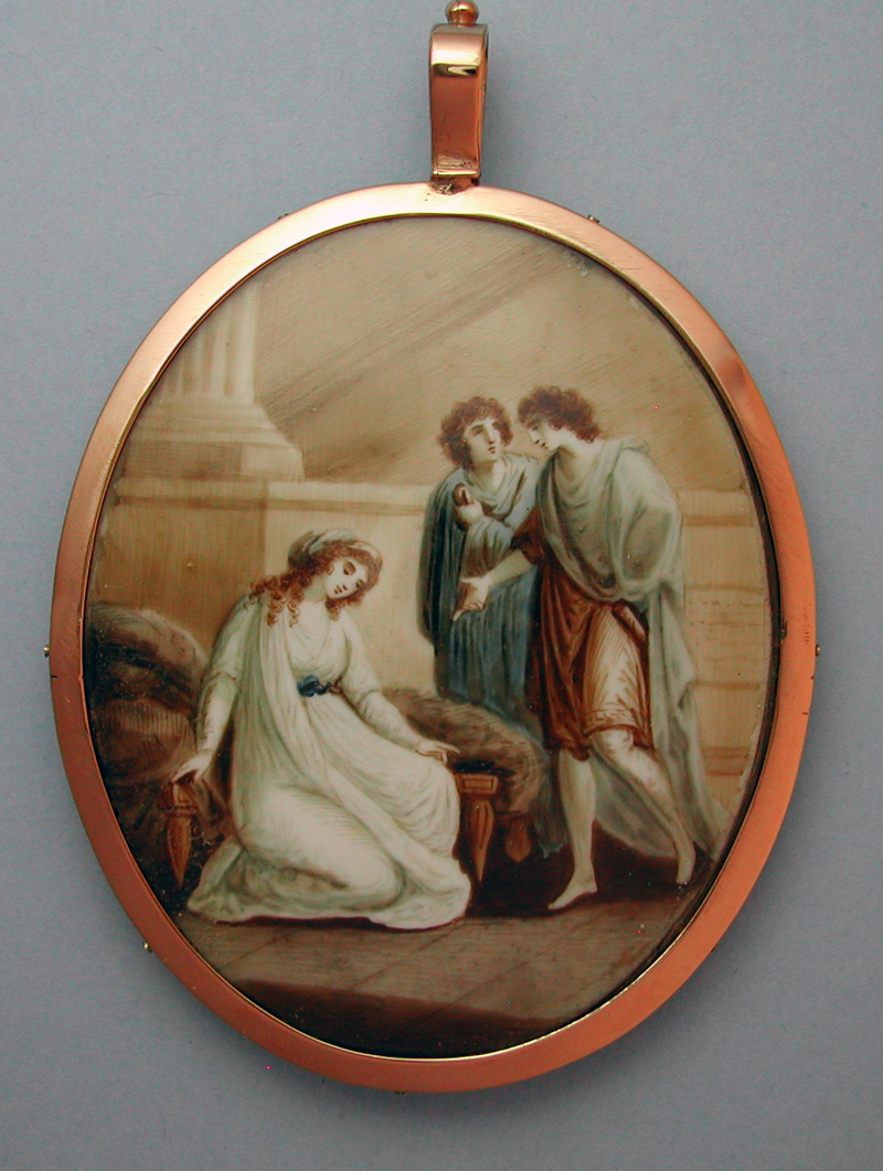 Watercolour Sentimental Miniature 18th Century