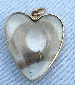 Late Georgian Heart Crystal