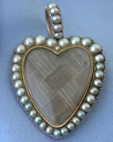 Late Georgian Heart Pearl Pendant 19th Century