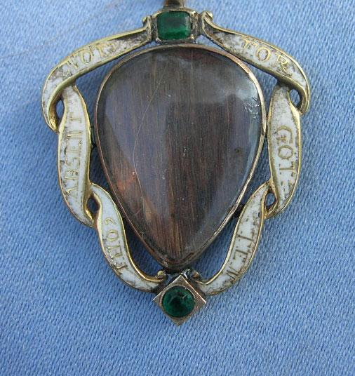 white enamel ribon heart pendant