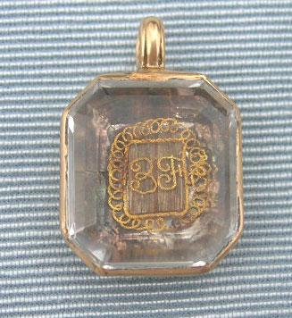 Stuart Crystal Rectangular Pendant Early 18th Century