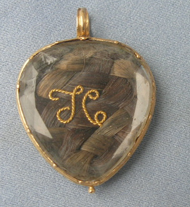 Georgian Heart Crystal Rectangular Pendant 18th Century