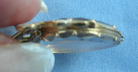 Georgian Heart Crystal Pendant 18th Century Ribbon Bow White Enamel