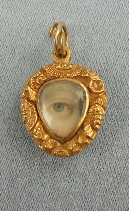 Georgian Eye Miniature Pendant