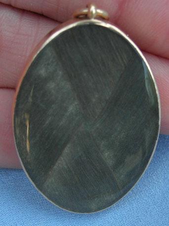 Neoclassical Sepia Hairwork Pendant Urn