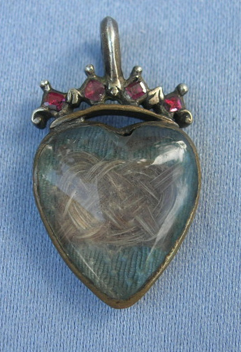 Georgian Heart Crystal Pendant 18th Century