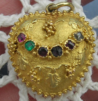 Georgian Heart REGARD Pendant 18th Century