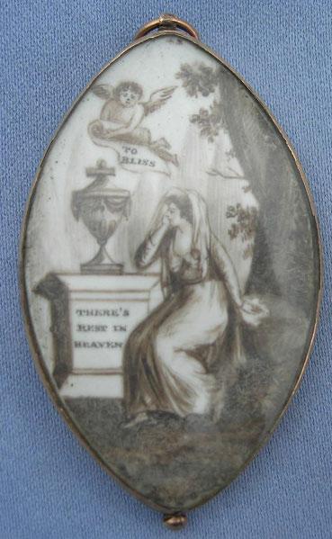 Neoclassical Sepia 18th Century Pendant