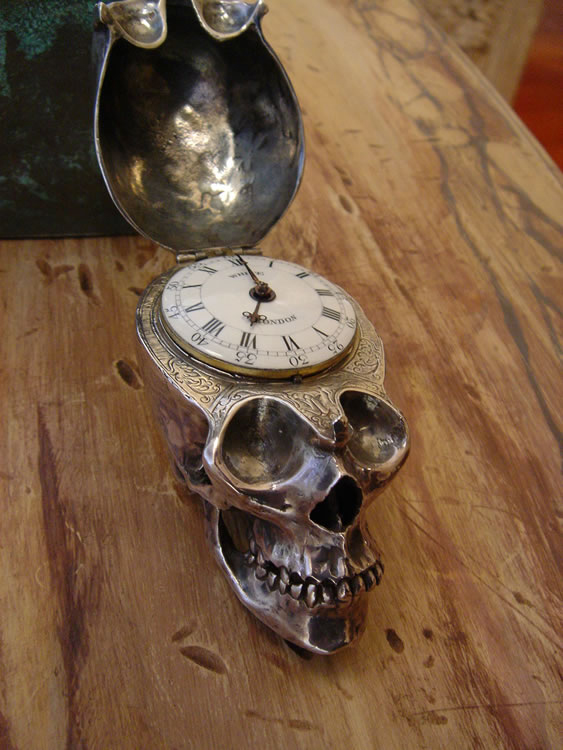 Thomas White, London Skull Clock