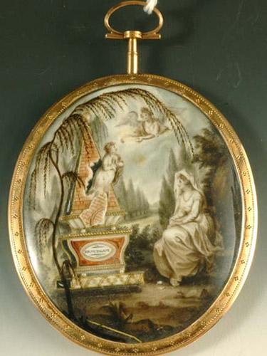 18th century mourning miniature