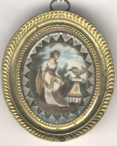 Neoclassical, Miniature, Georgian, 18th Century, Woman, Symbolism,