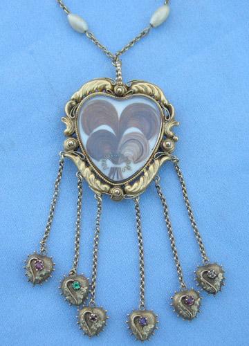 REGARD Rococo Revival Heart Necklace
