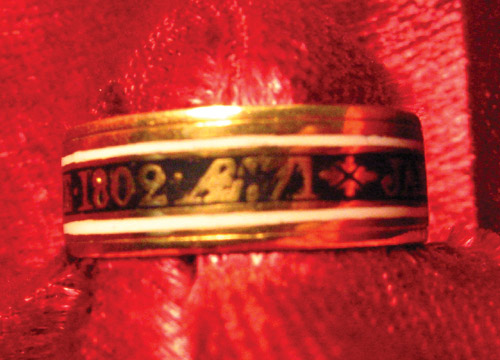1802 Black Enamel Band