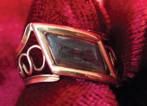 Diamond Shaped Mourning Ring early 19th Century