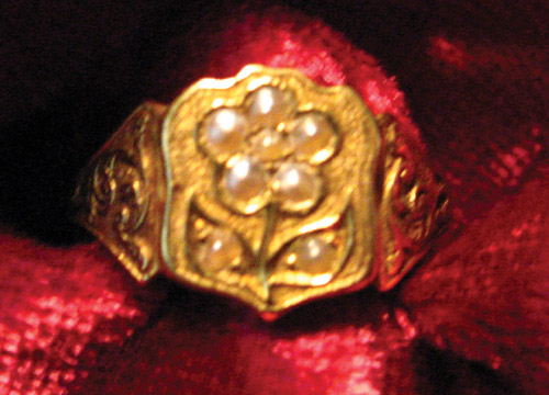 Pearl Forget Me Not Ring 1862