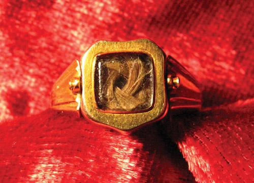 Swivel Ring, Victorian, Hairwork