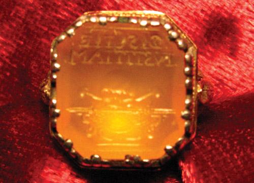 Louis XIV Memento Mori Intaglio Ring