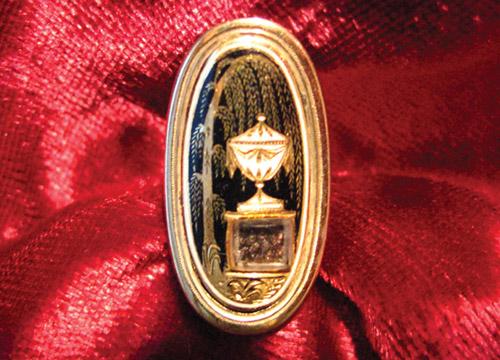1792 Enamel Mourning Ring