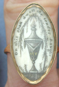 On This Shall Dwell the tender thought mourning ring