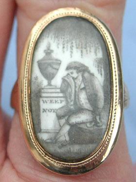 Eliz Legrew Ob 4th July 1791 AE 34 / Weep Not Ring