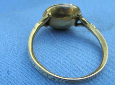 White Enamel and Amethyst Ring, 1770