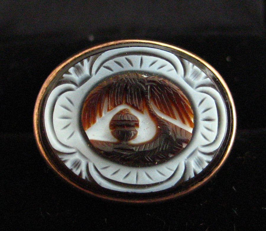 Georgian Cameo Mourning Ring