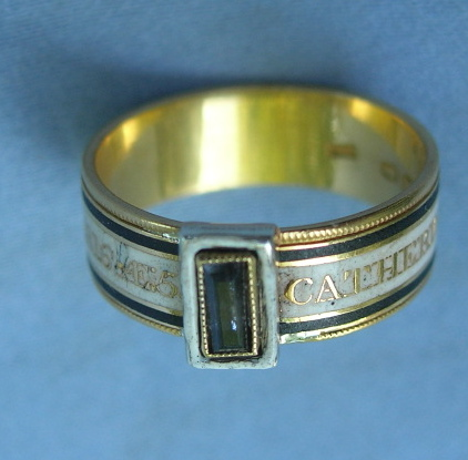 Dedication: 2 June 1816 AET 59 / Catherine Mary Walpole mourning ring