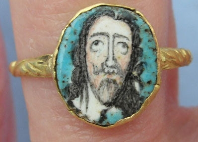 Charles I 'Be Prepared To Follow Me' mourning ring