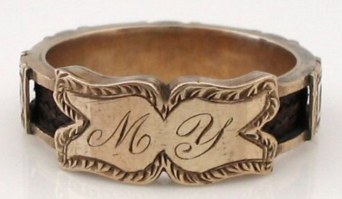 My David Hair Ring 1860