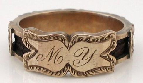 """my david"" sentimental ring, 1860"