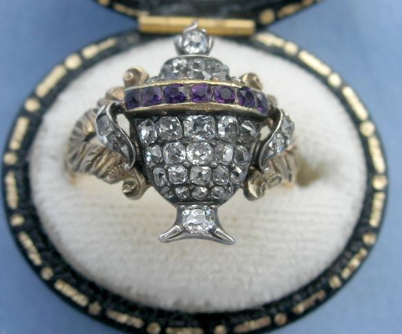 Georgian Diamond Urn Ring