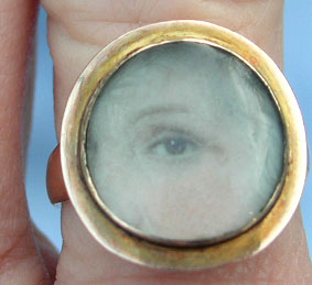 Eye Portrait Miniature Ring Georgian
