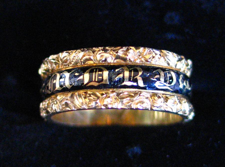 Gothic mourning ring