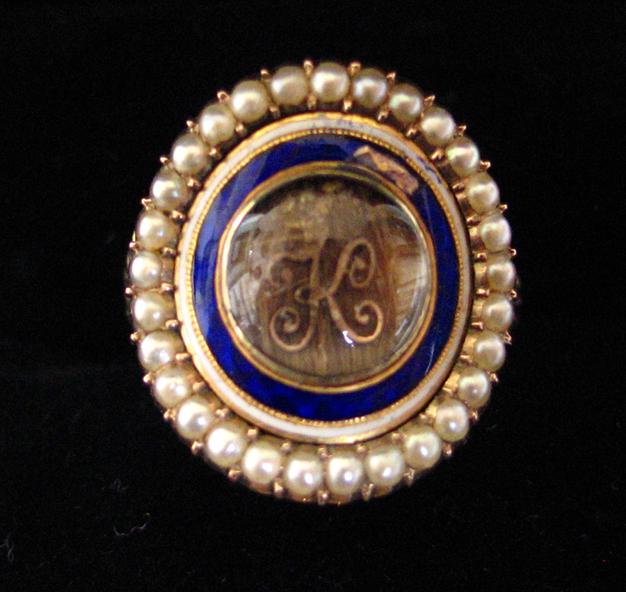 1796, Oval Blue/White Enamel Ring Mourning