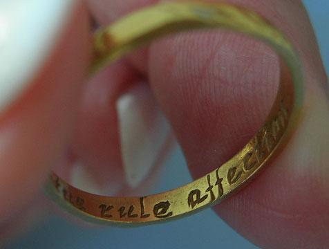 17th Century Memento Mori Posy Ring