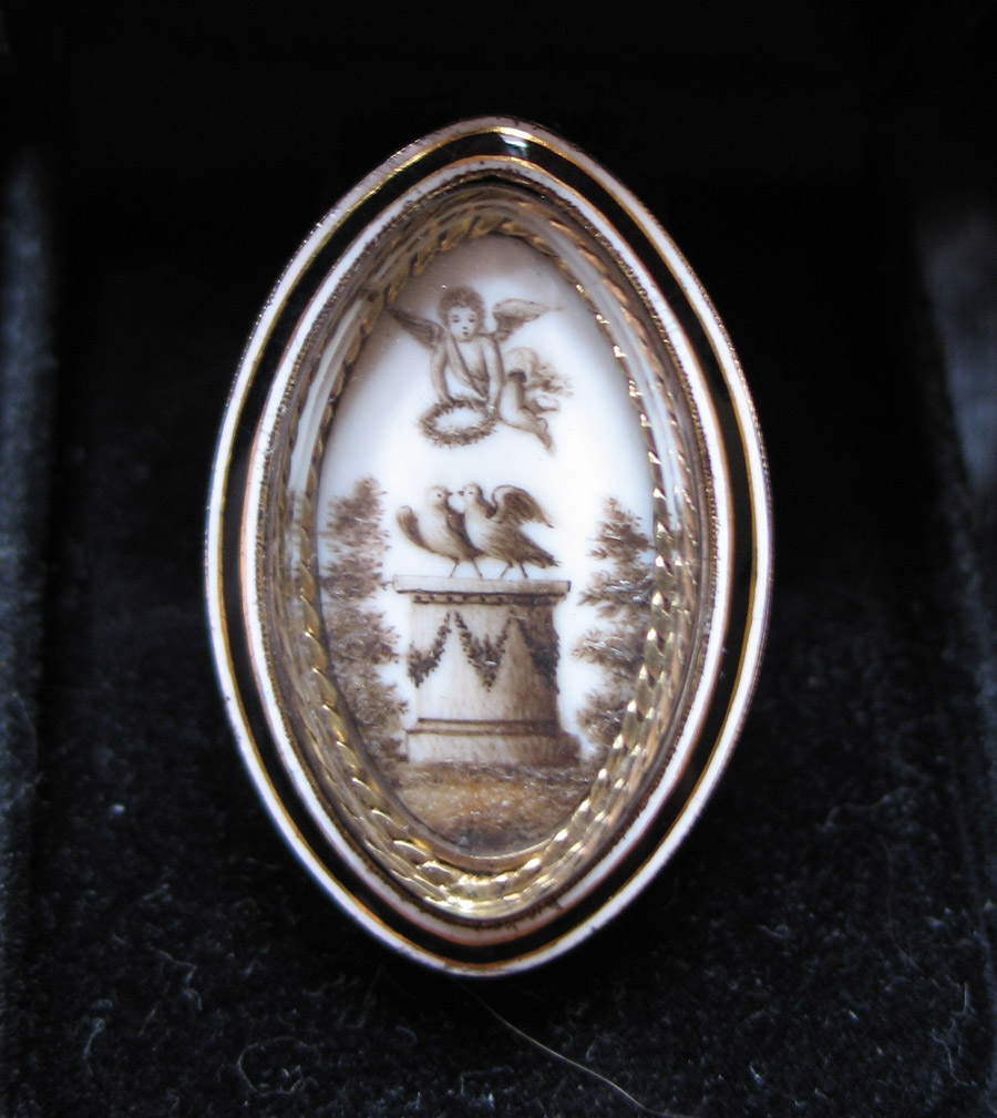 1792 Sepia Mourning Ring