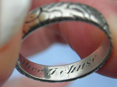 17th Century Posy Ring Silver