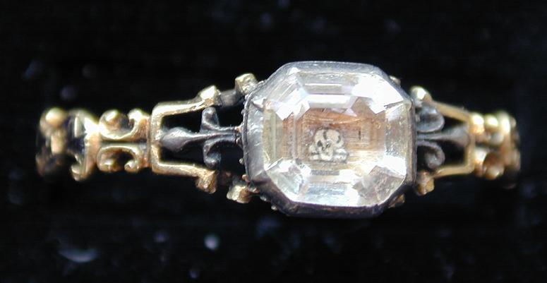 Rococo Memento Mori Skull Ring