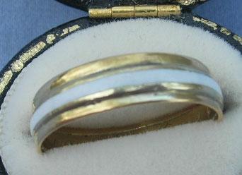18th Century Posy Ring White Enamel