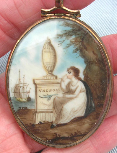 Nelson Ship Pendant Watercolour Mourning