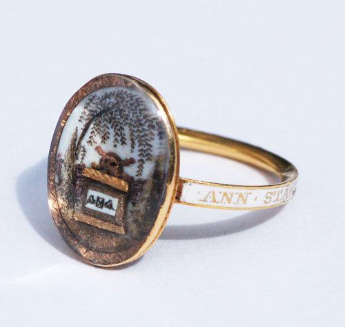 Anachronistic 1780 Memento Mori Neoclassical Ring